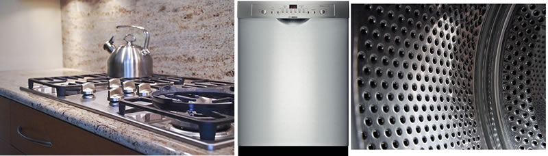 range top refrigerator and washing machine